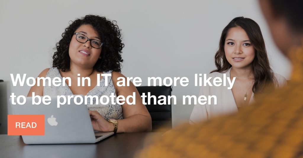 Women in IT more likely to be promoted than men