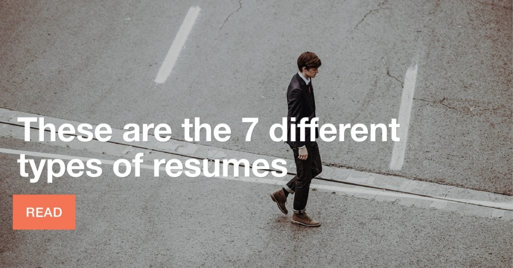 These are the 7 different types of resumes
