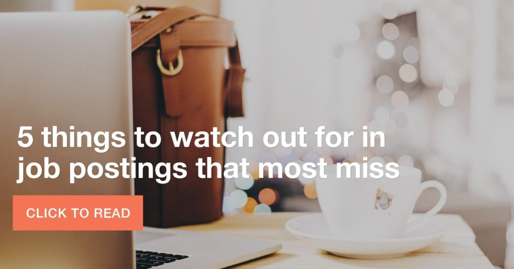 5 things to watch out for in job postings that most miss