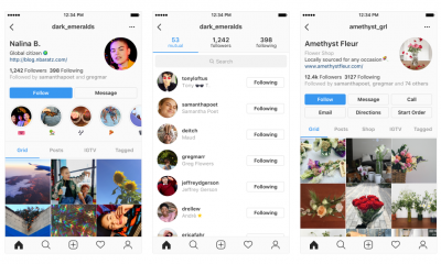 instagram profiles