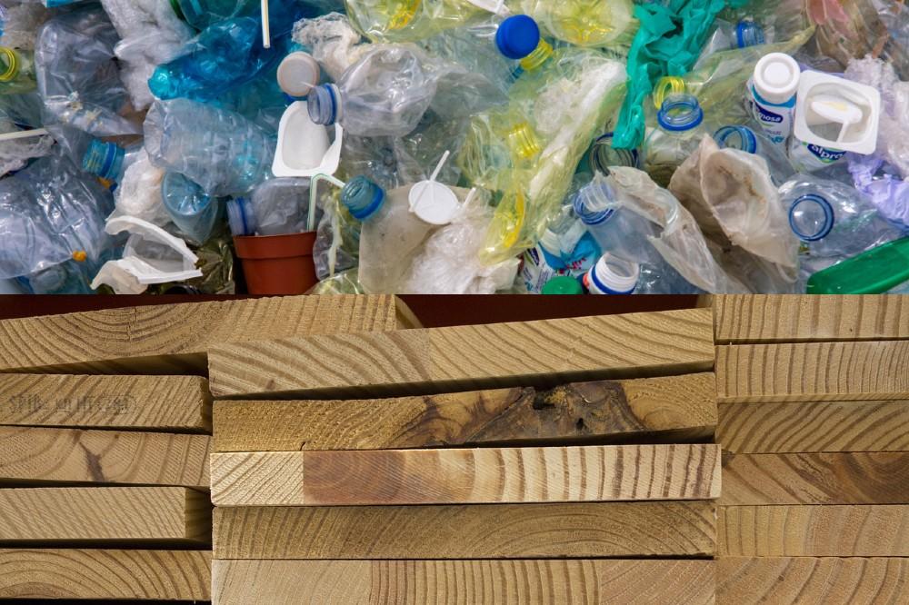 plastic waste turned into lumber
