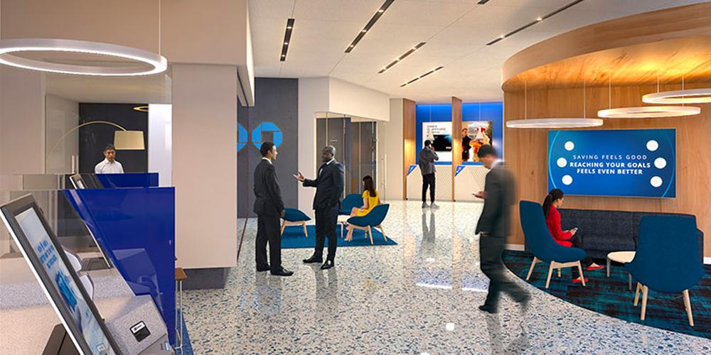 JPMorgan interior office, hoping to return to normal.