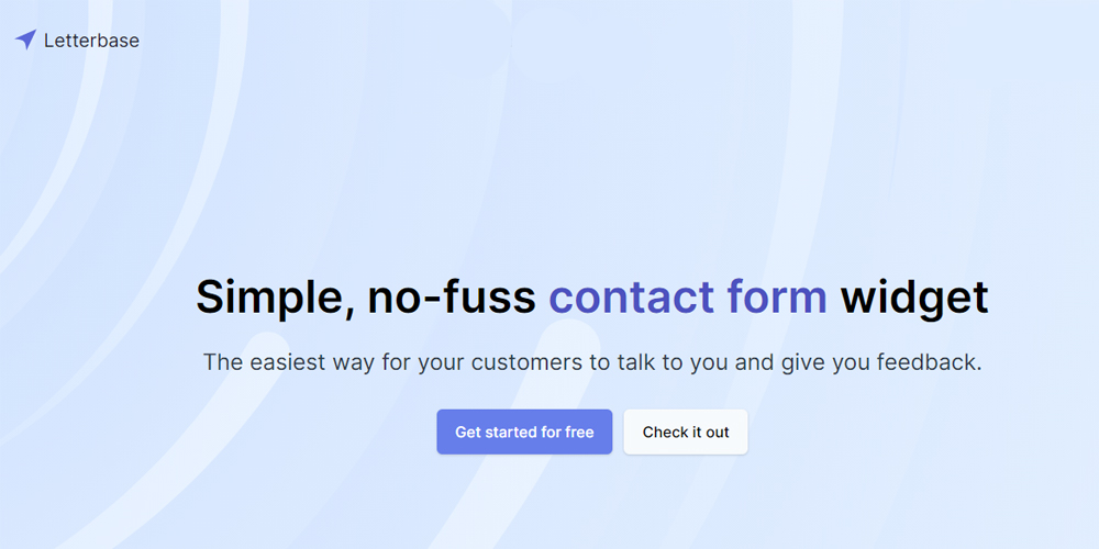 Letterbase is a contact form widget to help customer support