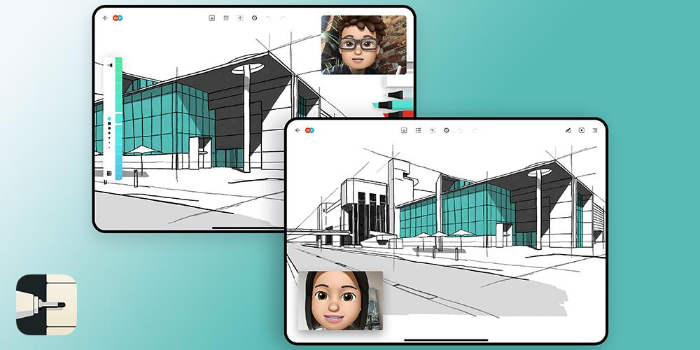 Moleskine Flow screenshot shows collaboration in creativity.