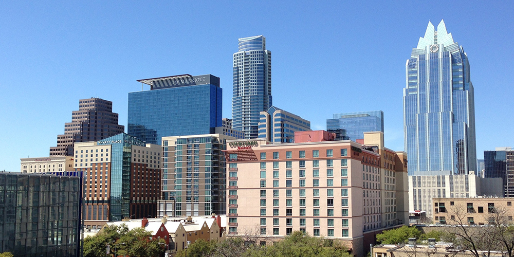 Austin real estate shown in the skyline of the Texas city.