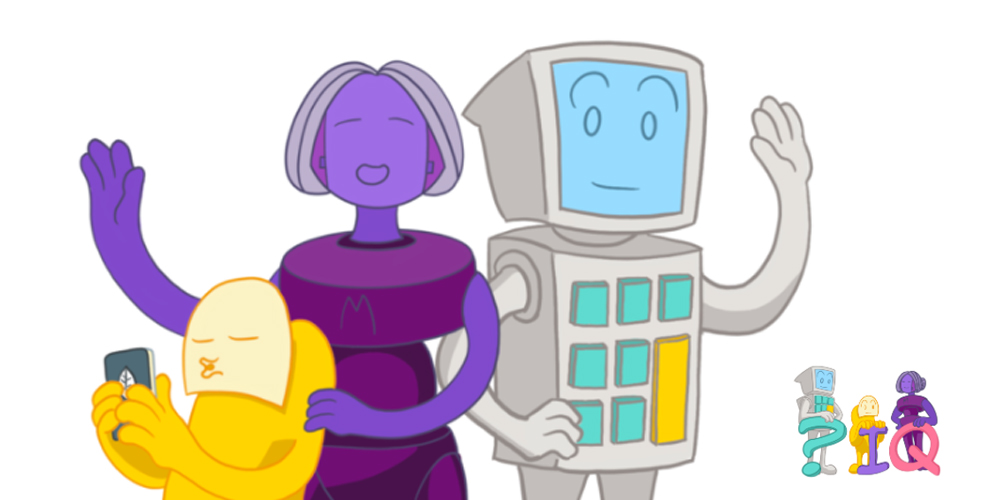 Choice IQ robots, designed to help identify strengths and stress in self-guided career coaching.