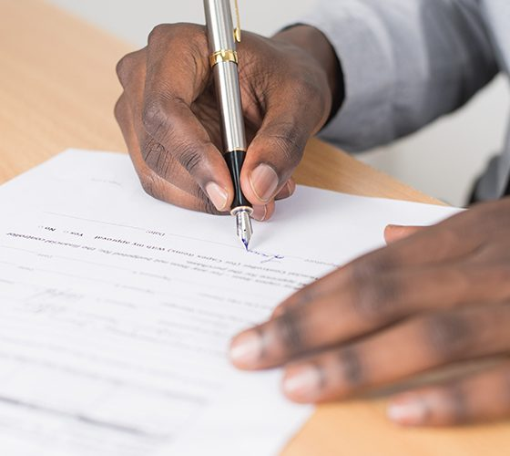 Man signing application may only be seen by automation