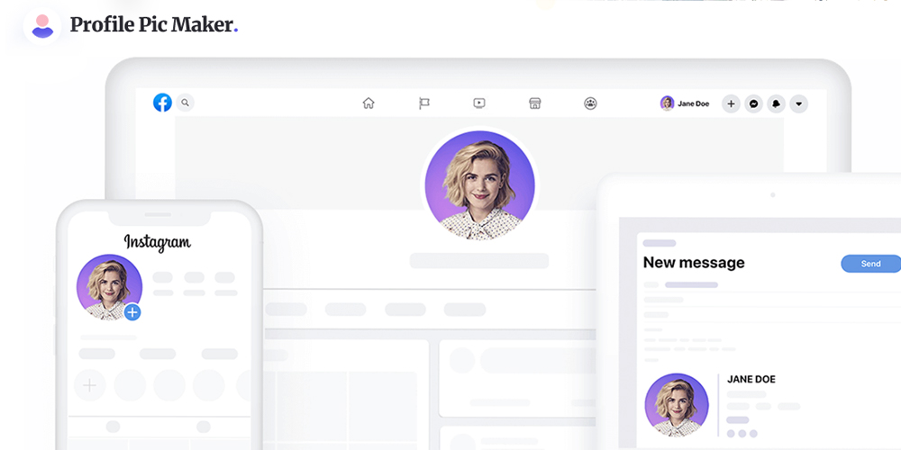 Profile Picture Maker is a service that allows you to quickly create beautiful profile pictures.