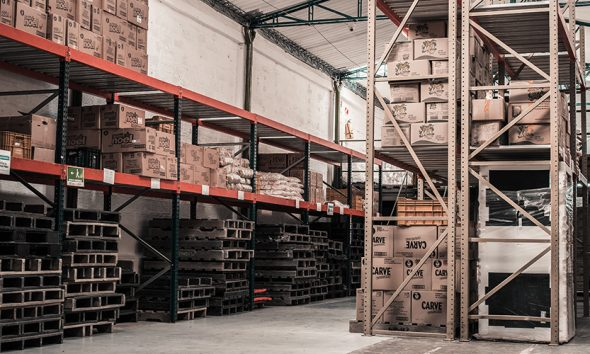 Warehouse storage space with