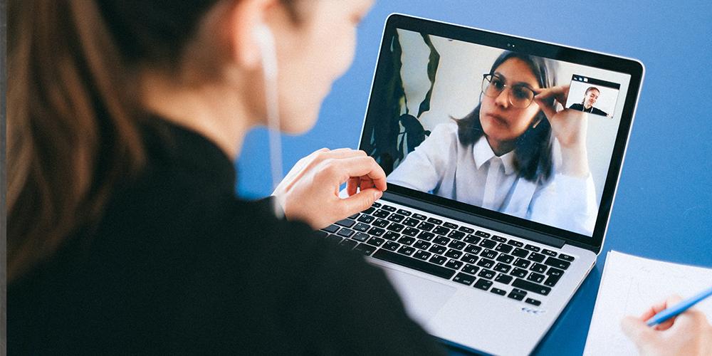 Online work meetings held via Zoom.