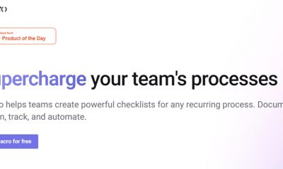 Front web page for Macro, super powered checklists, supercharges your team's processes.