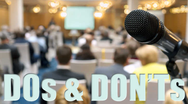 Conference Dos Don'ts