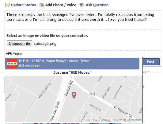 facebook update map