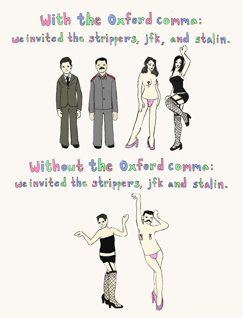 oxford comma rules