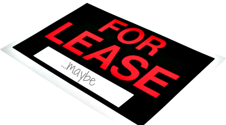for lease - maybe