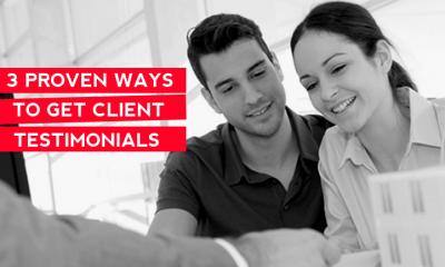 getting client testimonials