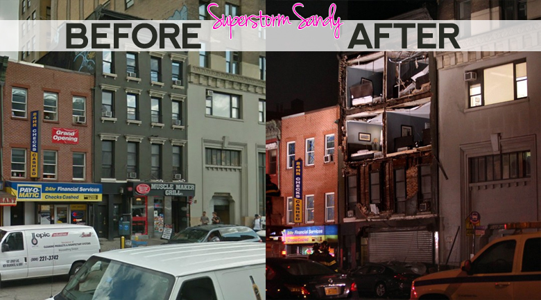 hurricane sandy before and after pictures