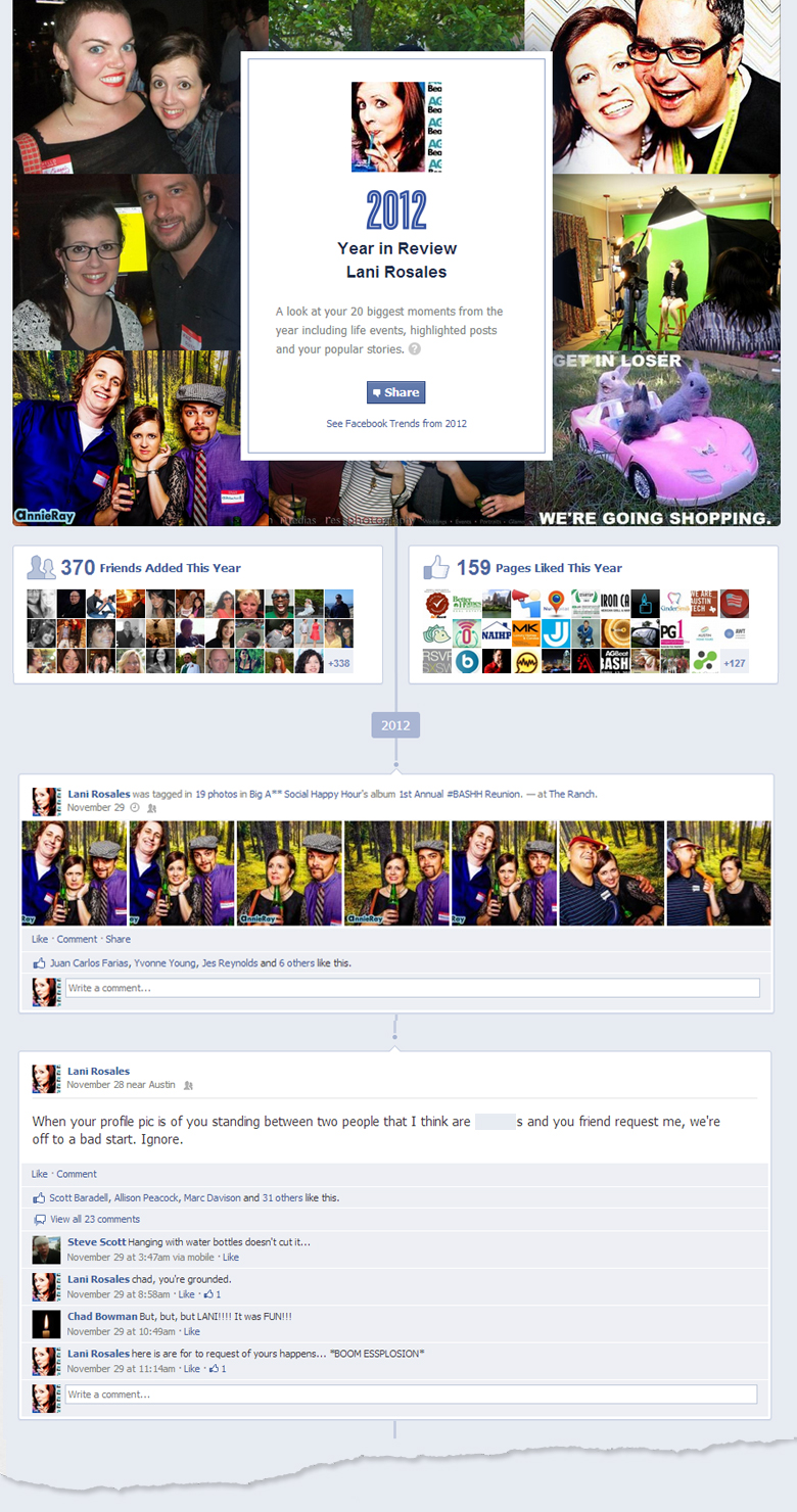 2012 year in review on Facebook