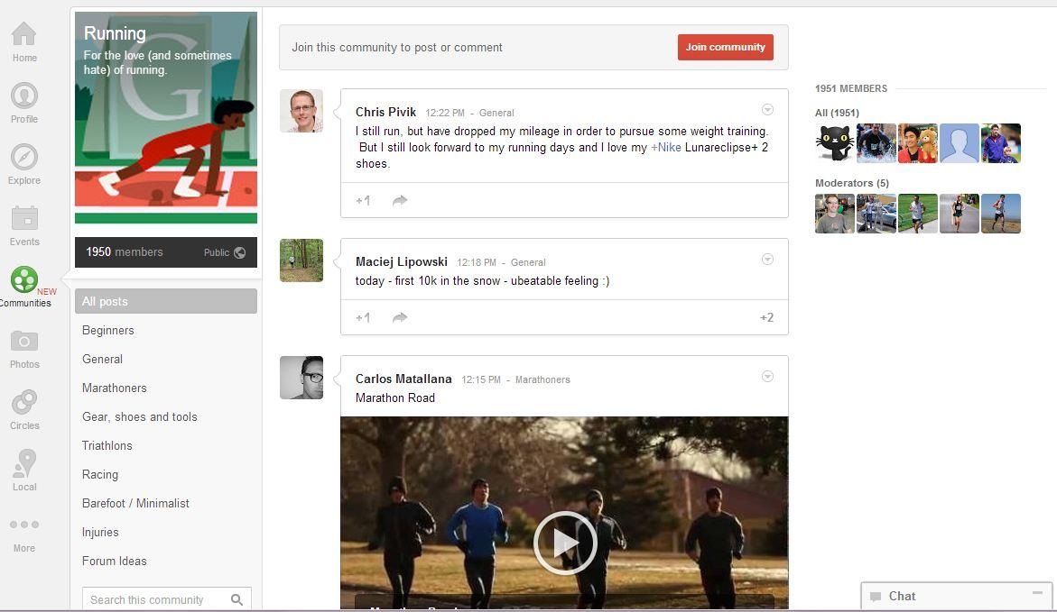 google communities running