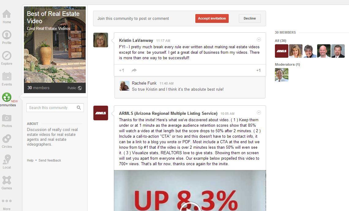 google communities real estate video