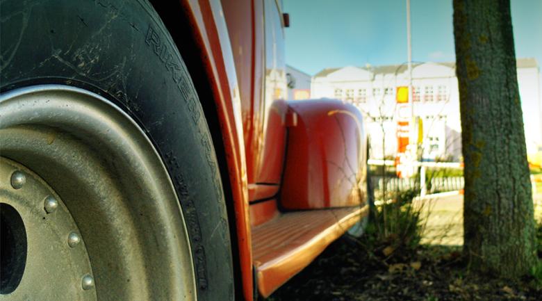 truck in yard