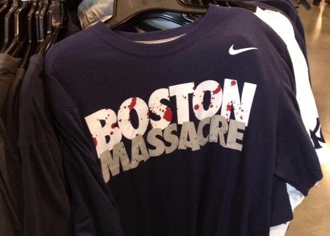 nike boston massacre shirts