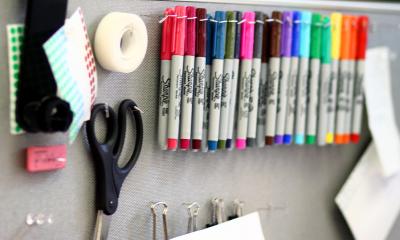 organized decluttered staples