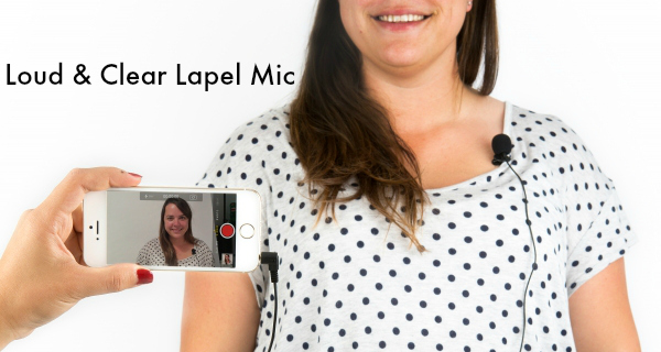 loud and clear lapel mic