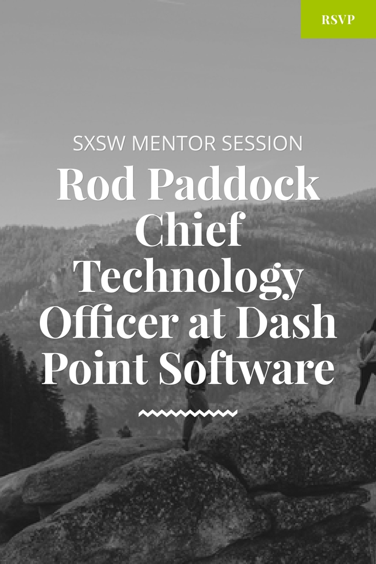 sxsw mentor session with rod paddock