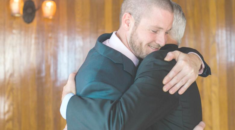 business hug