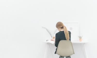 woman working isolation creativity