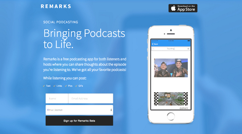 remarks interactive podcast