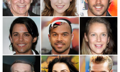 Artificial intelligence AI generated faces
