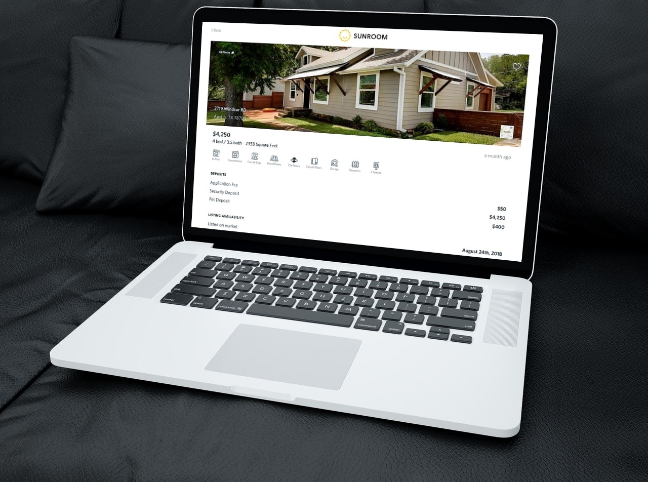sunroom real estate rentals on demand
