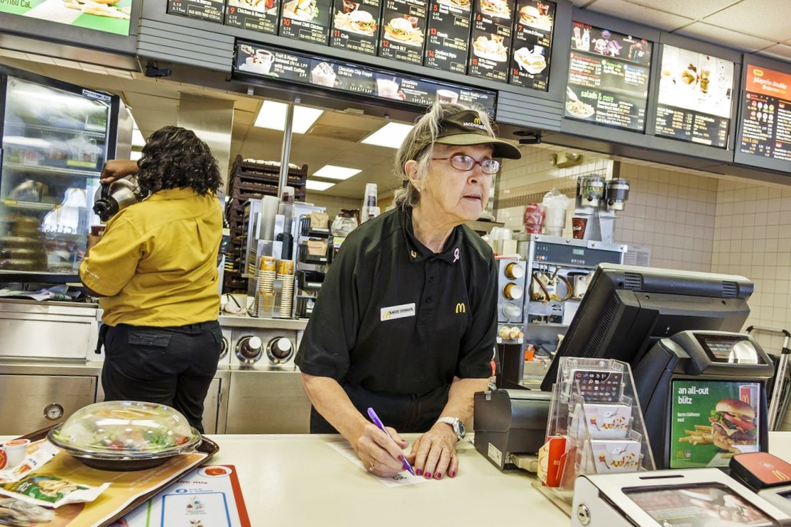 Teens replaced by senior citizens at fast food chains