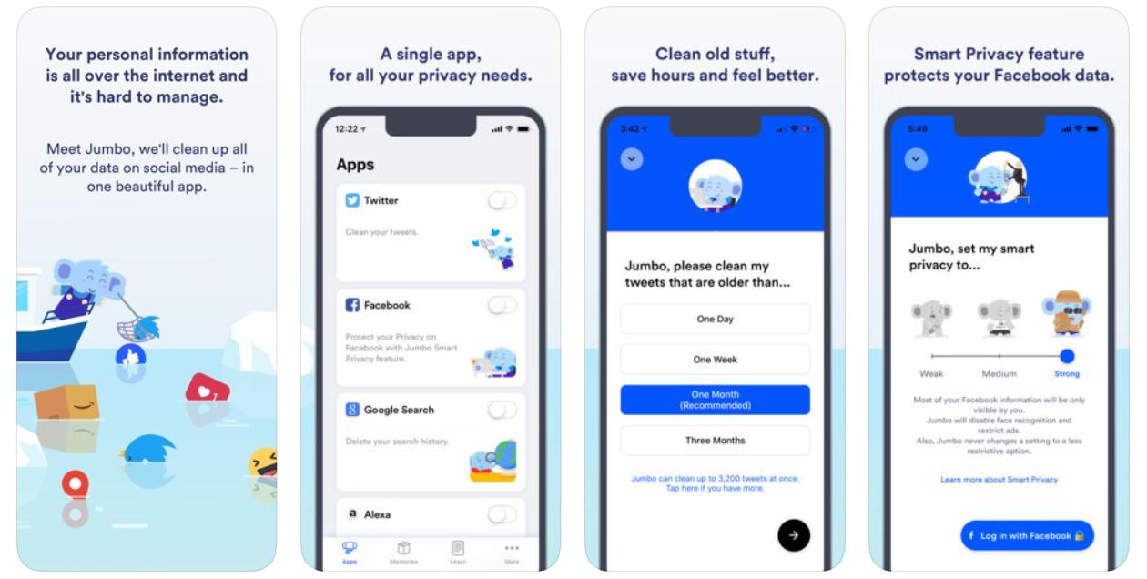 jumbo privacy app screenshot