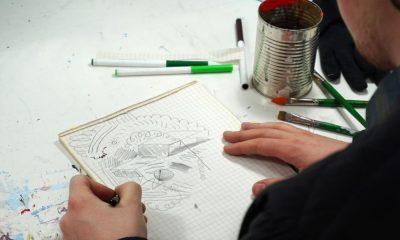creative artist doodle