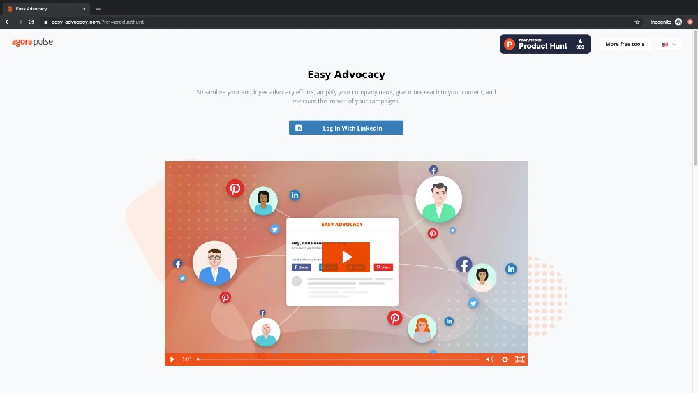 easy advocacy welcome page