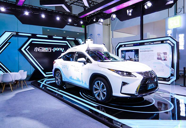 self-driving taxis from Toyota and pony.ai