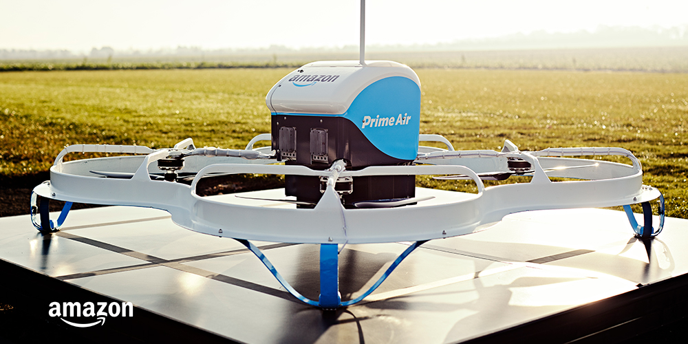 One of Prime Air's drones ready for test flights.