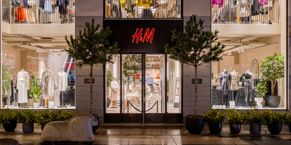 H and M storefront where data privacy was compromised.