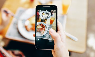 Phone taking picture of food shows potential of AR