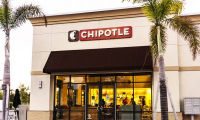 Chipotle exterior, possibly moving to a fully digital restaurant space soon.