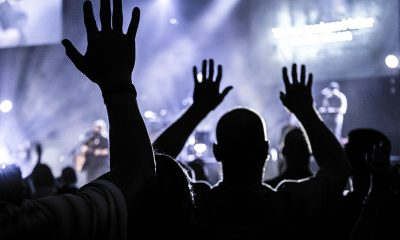 Concert crowd at a music concert, where deepfakes could become commonplace.