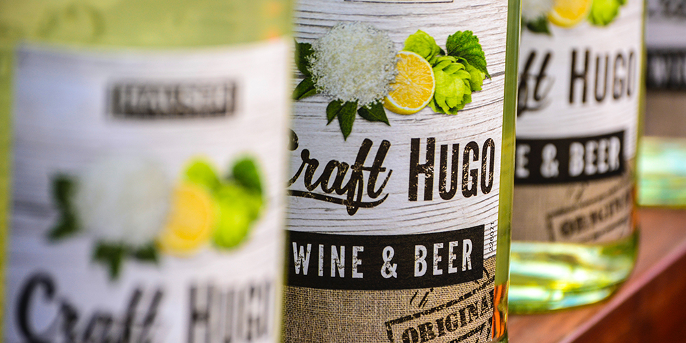 A set of wine from Craft Hugo, showing off pleasing branding in labels.