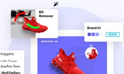 Glorify app lets you create beautiful designs for your products.