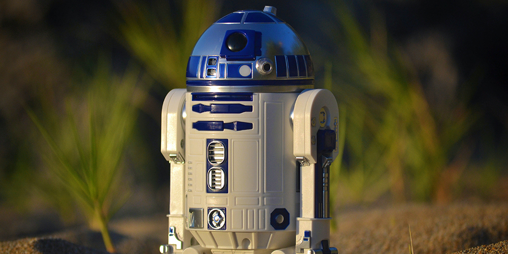 Close of R2D2 toy, an example of robots that we root for, but why?