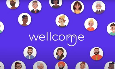 Logo page for Wellcome, a touchless technology sign-in.