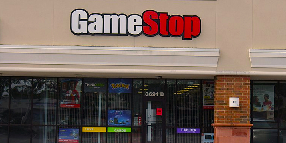 Gamestop storefront in a shopping mall.