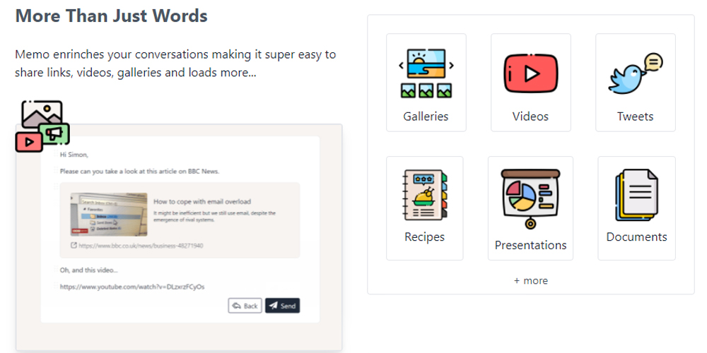 Memo, a communication tool, fuses